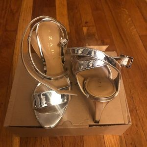 Zara Silver Heel Sandal
